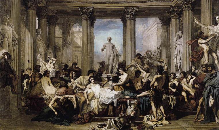 Image result for decadencia de imperio romano cartoon