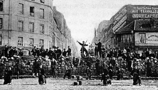 Figura 6. Barricada en la Comuna de París, 1871.
