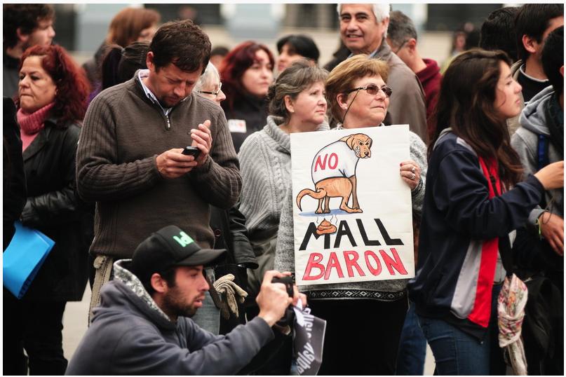 Protestas ciudadanas al Mall Barón. Fuente: La Otra Voz.