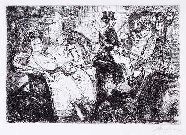 "John Sloan, ""Fifth Avenue Critics"" (1905)."