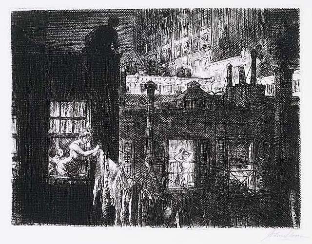 """Sloan, """"Night Windows"""" (1910)."""