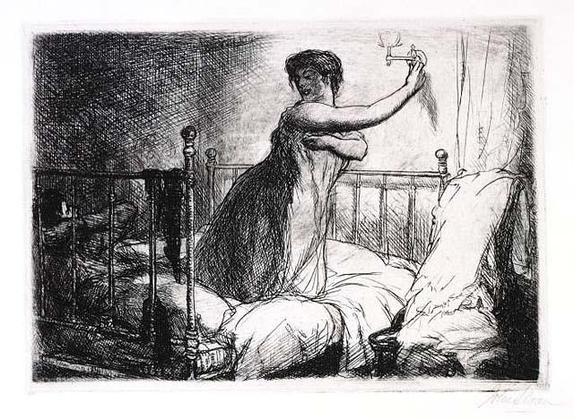 "John Sloan, ""Turning Out the Light"" (1910)"