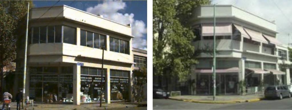 Fig. 1. Palermo Viejo 1997: Comercio de Sanitarios / 2005: Local de Indumentaria. Fuente: Gobierno Central de Buenos Aires, GCBA.