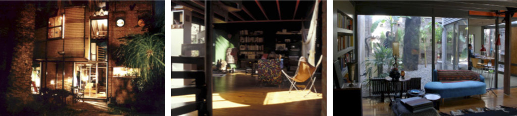 "Fig. 2. ""Casa Gurruchaga"" (1986). Mención Premio Anual de Arquitectura CPAU/SCA 1990. Fachada e interiores. Fuente: hampton-rivoira.com."