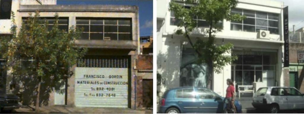 Fig. 5. Palermo Viejo 1997: Corralón / 2005: Local de Indumentaria. Fuente: GCBA.