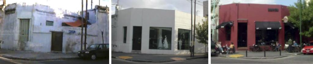 Fig. 6. Palermo Viejo 1998: Vivienda / 2002: Local Indumentaria / 2006: Bar. Fuente: GCBA.