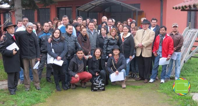 Primer encuentro de migrantes en Talca. Fuente: TV Maulinos.