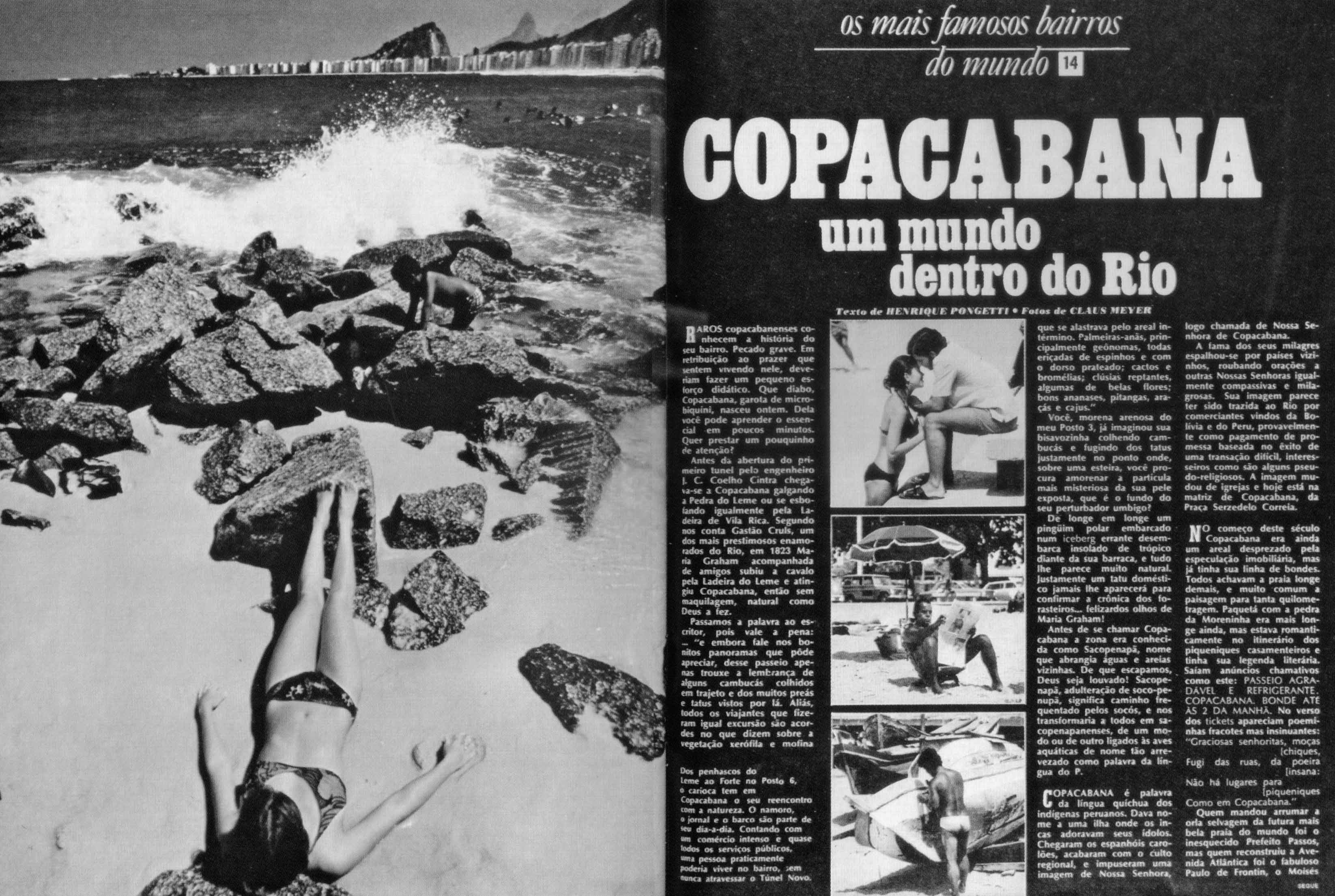 Portada de artículo en Manchette, 29 de abril de 1972, con fotografías de Claudio Meyer.